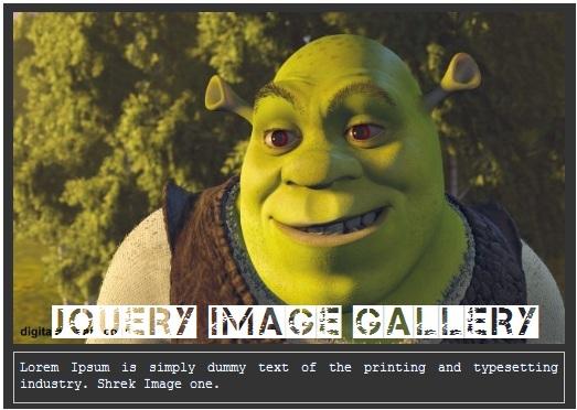 Galeria De Imagens Espectacular Com Super Efeitos jQuery