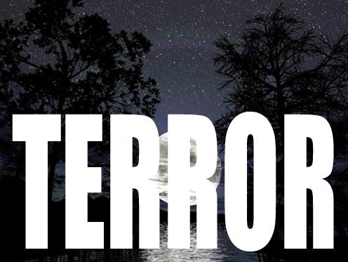 redimensionamento da palavra terror