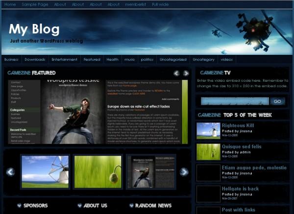 8 Temas WordPress Grátis Para Blog Sobre Jogos | WebMaster.pt