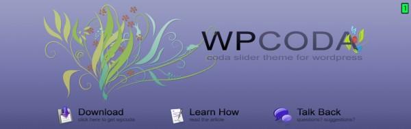 cabeçalho do WP Coda