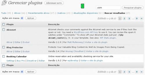 pesquisar plugins