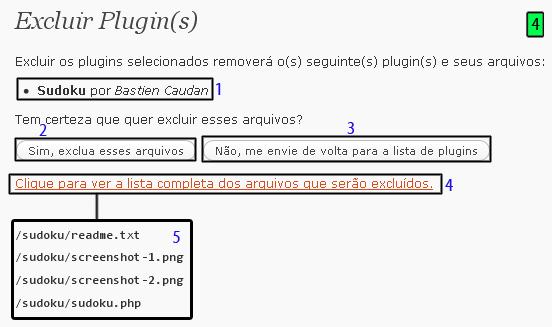 excluir plugin