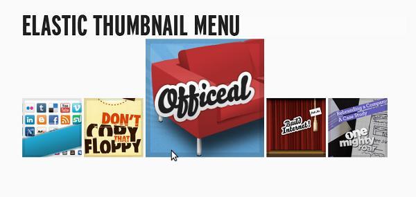elastic thumbnail menu