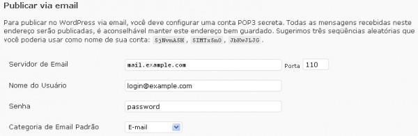 publicar via email