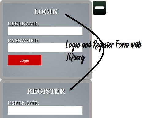 jQuery - Formulário Login Com Efeito Deslizamento