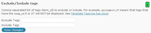 Exclude/Include Tags