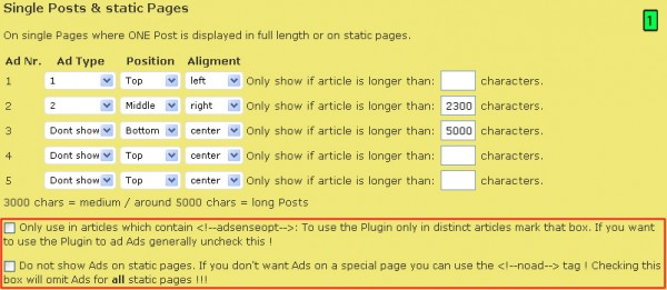 AdSense On Top E Adsense Optimize WordPress Plugins Parte14