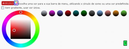cor pré-definida