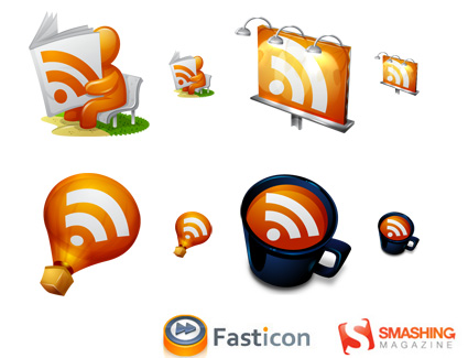 25 Sets De Ícones Gratuitos Para Feed RSS