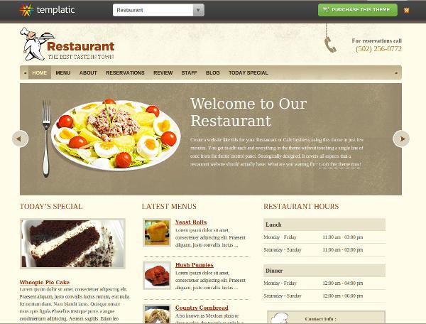 restaurant templatic