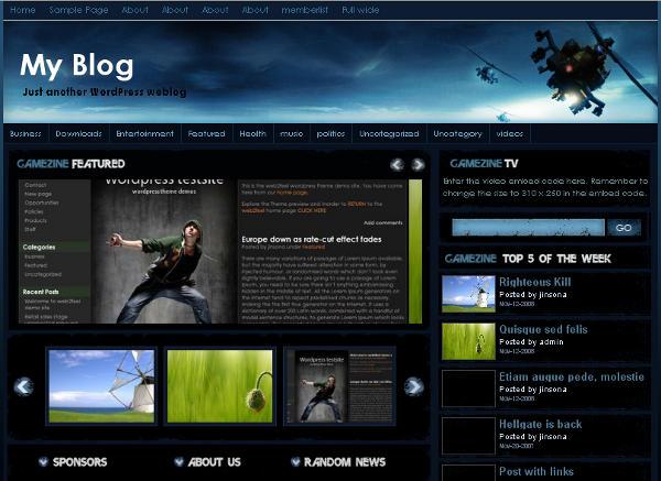8 Temas Gratuitos WordPress Para Portais De Jogos
