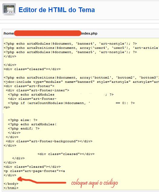 Extensão Joomla Para Google Analytics