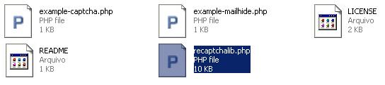 Estrutura ZIP - reCAPTCHA