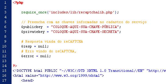 Formulário de Contato - Chaves PHP