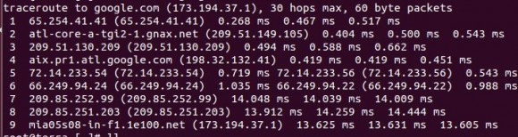 traceroute