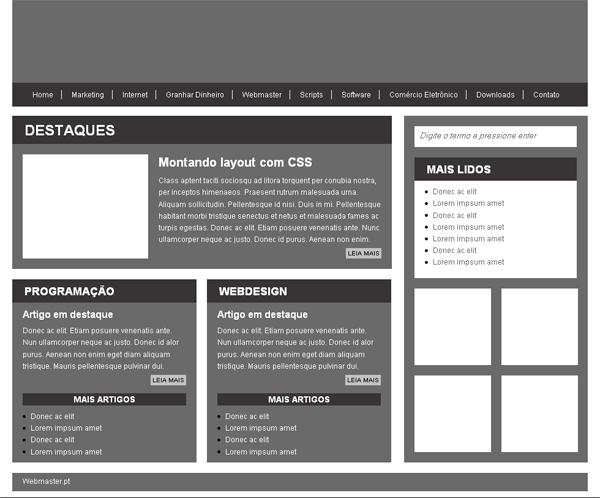 Layout HTML5