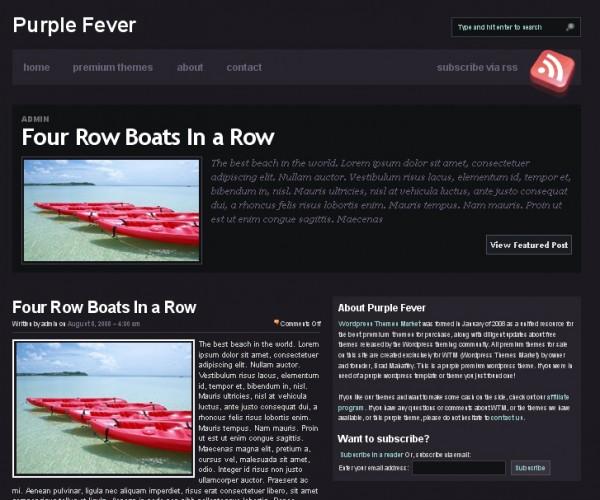 WordPress Theme Purple Fever
