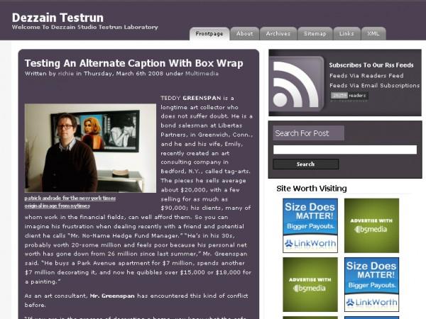 WordPress Theme Timeline Digest