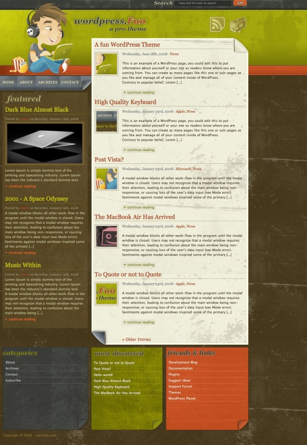 WordPress Theme WordPress Fun